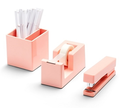 Starter Dorm Desk Bundle - Blush