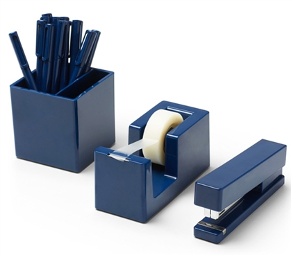 Starter Dorm Desk Bundle - Navy College Supplies Dorm Necessities