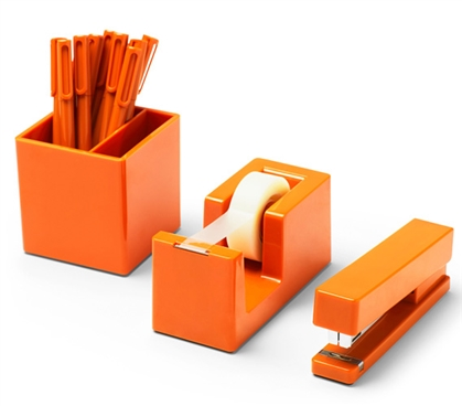 Starter Dorm Desk Bundle - Orange Dorm Essentials College Supplies