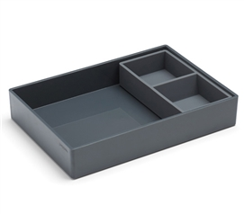 Tray Combo - Dark Gray Dorm Storage Solutions Dorm Essentials