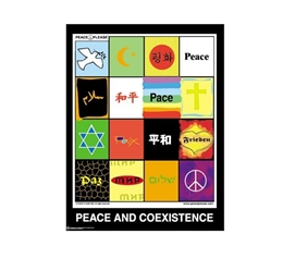 Peace and Coexistence Dorm Room Poster Wall Decorations for Dorms College Supplies Dorm Room Decor