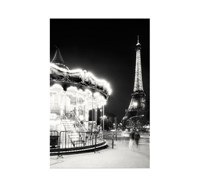 Paris Tower and Carousel Dorm Room Poster Wall Decorations for Dorms College Wall Decor