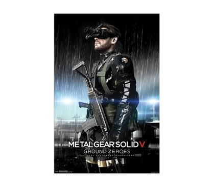 MGS: Ground Zeroes - Night Vision Dorm Room Poster Dorm Room Decorations Wall Decorations for Dorms Must Have Dorm Items