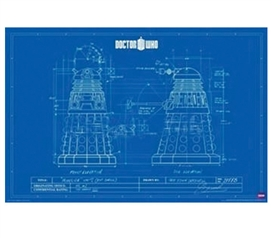 Doctor Who Blueprint Poster