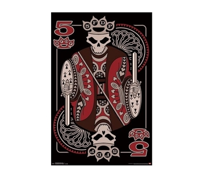 Five Finger Death Punch - 5 Card Dorm Room Poster Dorm Room Decorations