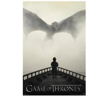 Game of Thrones - Lion and Dragon College Poster Game of Thrones Posters Dorm Room Decor Dorm Room Decorations