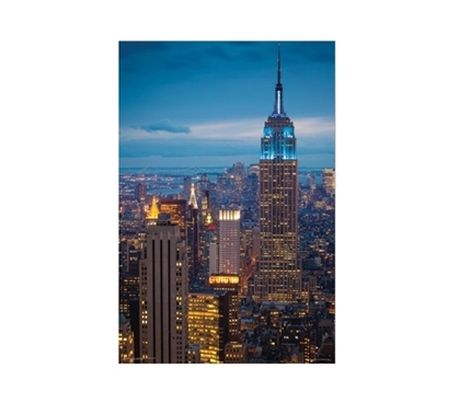 Empire State at Night College Poster Dorm Room Decorations Dorm Room Decor