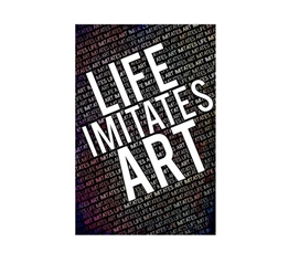 Life Imitates Art Dorm Poster College Supplies Dorm Room Decorations