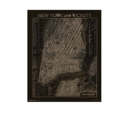 Vintage NYC Map Dorm Poster Dorm Room Decorations Must Have Dorm Items