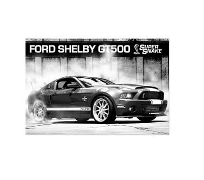 FORD SHELBY GT500 SUPERSNAKE Dorm Poster Dorm Room Decorations College Wall Decor