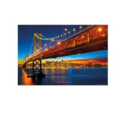 Bay Bridge San Francisco College Poster Dorm Room Decorations Dorm Room Decor
