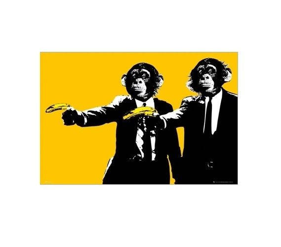 Monkeys Banana Guns Poster Dorm Shopping Best Items For