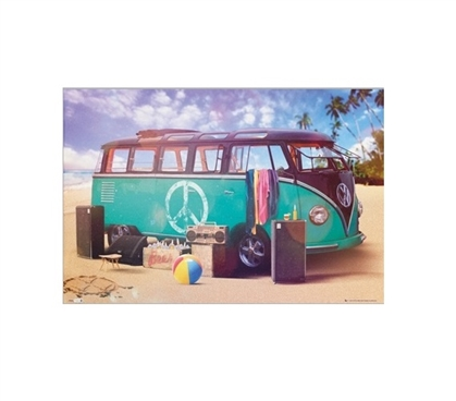 VW Camper Party Dorm Poster Dorm Room Decorations Wall Decorations for Dorms