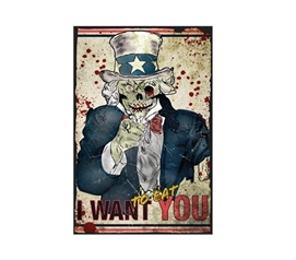 Zombie Uncle Sam College Poster College Dorm Decorations Dorm Essentials