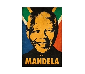 Nelson Mandela Stencil College Dorm Poster Dorm Room Decorations Dorm Room Decor