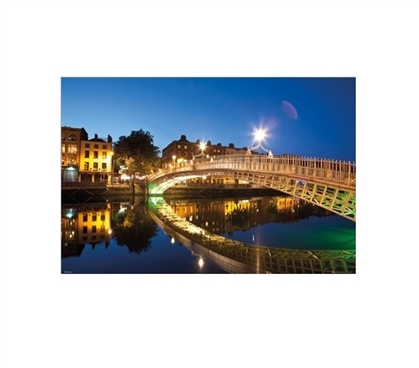 Dublin Halfpenny Bridge Landscape Dorm Room Poster Dorm Room Decorations Wall Decorations for Dorms