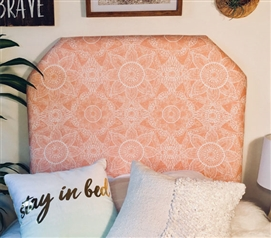 Essential Dorm Room Decor Zara Sun Vibrant College Headboard with Ornate Pattern