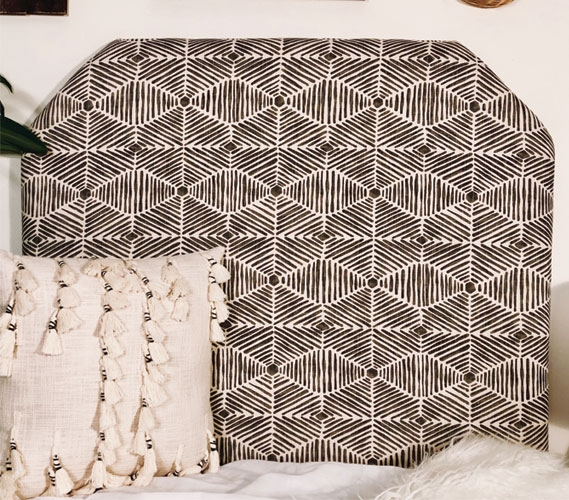 Unique College Headboard Heni Grey Handmade Twin Extra Long Bedding Dorm Room Decor