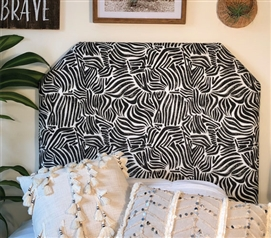 Black Dorm Room Headboard for College Twin XL Bedding Stylish Unique Osin Design