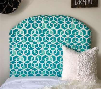 One of a Kind College Headboard Oceltic Teal Fashionable Dorm Decor Essential Bedding