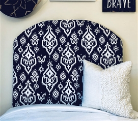 Essential College Dorm Room Decor Stylish Navy Rajias Extra Long Twin Headboard
