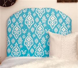 Dorm Room Headboard for Twin XL Bedding Stylish Rajias Design Beautiful Teal College Decor
