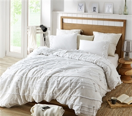 Harmony Textured Twin XL Duvet Cover