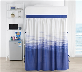 Ombre Ocean Bed Skirt Panel with Ties - Purple Navy
