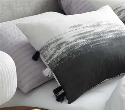 Ombre Nights Sham - Faded Black (2-Pack)