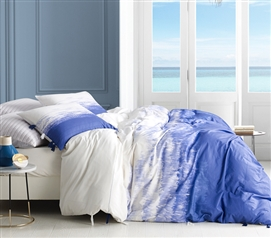 Ombre Ocean Twin XL Duvet Cover - Purple Navy