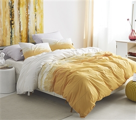 Ombre Sunset Twin XL Duvet Cover - Ochre