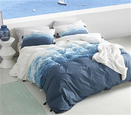 Ombre Twilight Twin XL Duvet Cover - Ocean Depths Teal