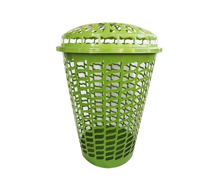Tall Round Laundry Hamper Green Dorm Laundry Supplies
