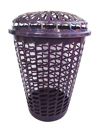 Tall Round Laundry Hamper Purple