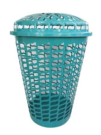 Tall Round Laundry Hamper Aqua