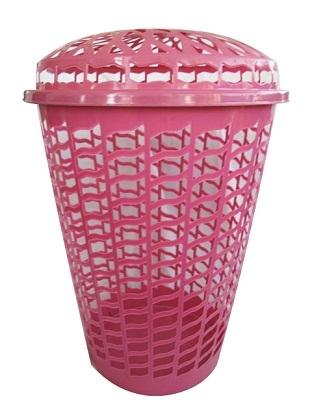 Tall Round Laundry Hamper Pink Dorm