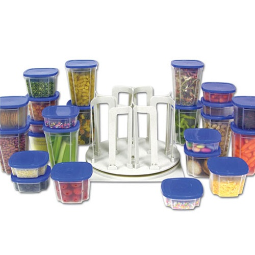 49 Piece Swirl Around college dorm room food storage containers