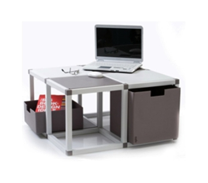 ModeLife - 4 Cube Table (Modular System) College Furniture