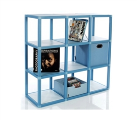 ModeLife - 9 Cube Dorm Room Book Case College Storage Supplies