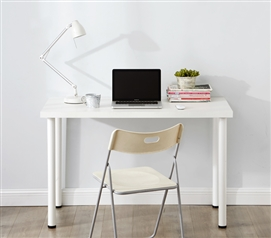 One of a Kind Dorm Room Furniture Stylish White Yak About It Quick & Simple College Desk