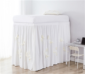 Southern Alps Bed Skirt Panel with Ties - Additional Motif