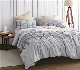 Alexandra Textured Duvet Cover - Twin XL - Glacier Gray
