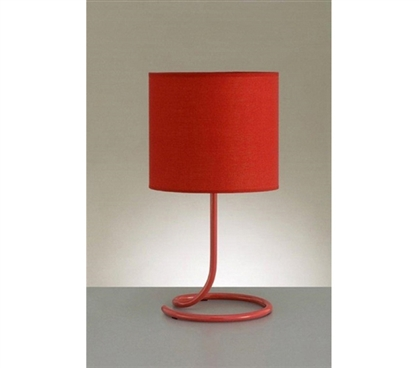 Keep Next To Your Dorm Bed - Spiral Desk Lamp - Red - Great Cheap Lamp