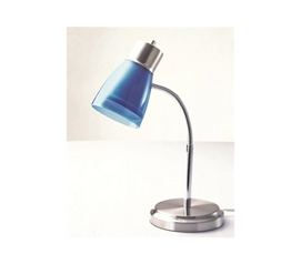 Keep Dorm Bright - Gooseneck College Desk Lamp - Blue - Great For Studying In College