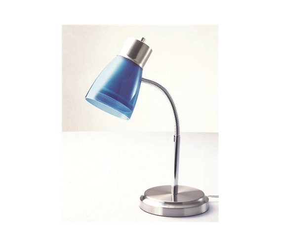 Gooseneck College Desk Lamp - Blue - Gooseneck College Desk Lamp - Blue College Items Dorm Desk Lamps