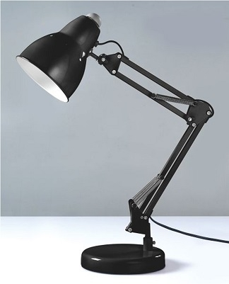 Black Desk Lamp: The Adjusto College Desk Lamp - Black,Lighting