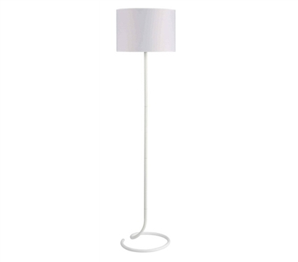 Essential For College - Snail's Tail Floor Lamp - Spiral White - Great Lamp For Dorms
