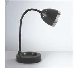 Cheap Dorm Item - Radiant Dorm Desk Lamp - Black - Supplies For Dorms