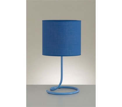 Add Dorm Lighting - Snail's Tail Desk Lamp - Blue - Cool Item For Dorms
