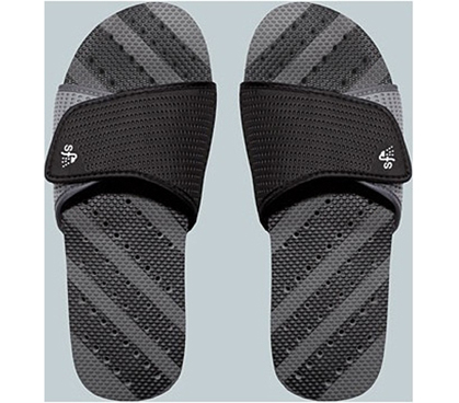 Showaflops Men S Antimicrobial Shower Sandal Black
